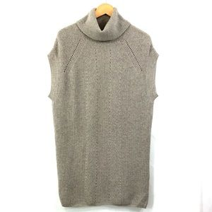 VINCE Sleeveless Beige Sweater Dress Tunic Top N20